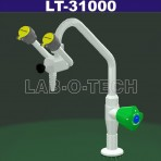 Emergency Eyewash With Swivel Spout With Valve